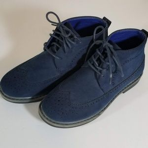 Boys Blue Suede 3/4  Boots